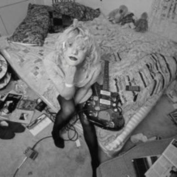 "Courtney Love Poster Black and White Poster 24""x36"""