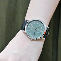Designer Stylish Japanese Leather Strap Band Alloy Watch
