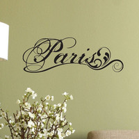 Paris Fancy Elegant Wall Decal - Fancy Wall Sticker - Match Your Bistro Decor - Removable Wall Decal - Paris Scroll Swirls