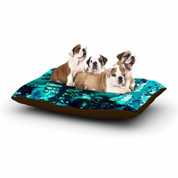 "Ebi Emporium ""The Perfect Storm - Turquoise"" Blue Teal Painting Dog Bed"