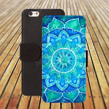 iphone 6 case abstract blue painted mandala colorful iphone 4/4s iphone 5 5C 5S iPhone 6 Plus iphone 5C Wallet Case,iPhone 5 Case,Cover,Cases colorful pattern L535