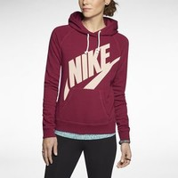 The Nike Rally Futura Pullover Women's Hoodie.