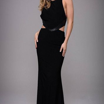 Jovani - Sleeveless with Side Cutouts Jersey Evening Dress M547