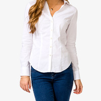 Stretchy Split Collared Blouse