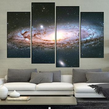 4 Pcs/Set Large Abstract Andromeda Galaxy Canvas Print Painting Modern Special Wall Art Picture Living Room Decor