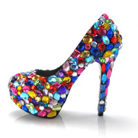 Candy Colored Crystal Pumps