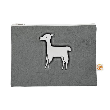 "Monika Strigel ""Llama One"" Grey Everything Bag"