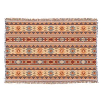 Southwestern Design Tan Throw