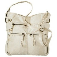 Mossimo Supply Co. Washed Crossbody Handbag - Cream