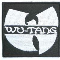 """WU-TANG Iron On Sew On Hip Hop Embroidered Patch 2.9""""/7cm"""