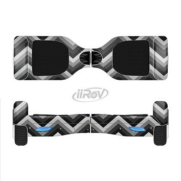 The Gray Toned Layered CHevron Pattern Full-Body Skin Set for the Smart Drifting SuperCharged iiRov HoverBoard