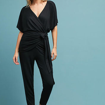 Draped Tie-Waist Jumpsuit