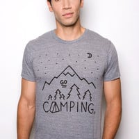 Go Camping T-shirt Athletic Gray