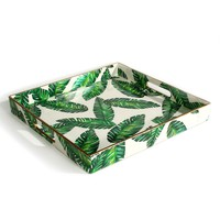 Botanical Leaf Square Tray