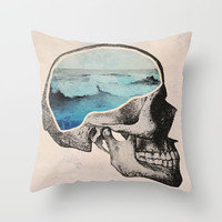 Brain Waves Throw Pillow by Chase Kunz