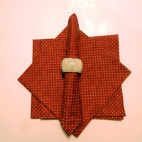 Set of 4 Burnt Red Handmade Cotton Napkins,/ Cloth Napkins,/ Napkins cloth,/ Linen napkin