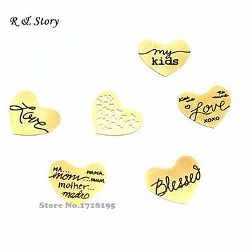 Promotion Gold Floating Plates Blank Plates Stainless Steel Floating Plate For Heart Locket floating charms LFP_249