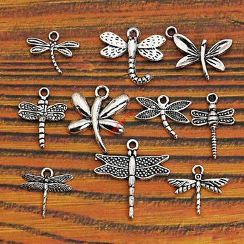 DCCKFV3 Mixed Tibetan Silver Plated Insect Dragonfly Bee Charms Pendants Jewelry Making Accessories Diy Jewelry Findings Zinc Alloy m004