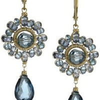 "Dana Kellin ""Indigo Mix"" Everyday Wearable Drop Earrings"