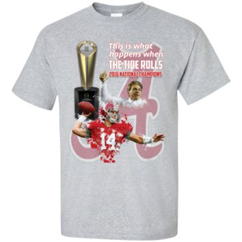 Alabama Crimson Tide 2016 National Champions Youth Custom Ultra Cotton Tee