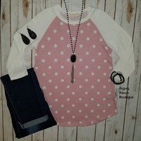 Mission Polka Dot Top - Also in Plus Size