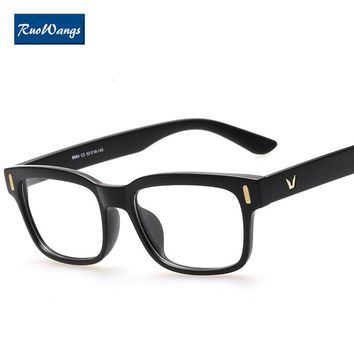 RuoWangs eyewear brand protection optical frame eyeglasses men clear lens glasses for computer eyewear oculos de grau women