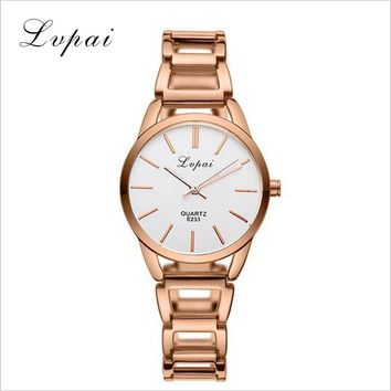 Lvpai Brand 2016 Stainless Steel Watch Women Clock Business Watch Quartz-watch Women Dress Watch Ladies Dress Wristwatch