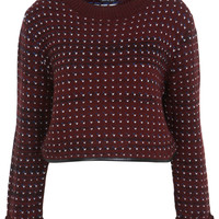 Burgandy Funnel Neck Jumper - Miss Selfridge