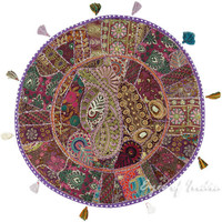"""LARGE SELECTION - 32"""" PATCHWORK DECORATIVE FLOOR PILLOW CUSHION SEATING COVER In"""