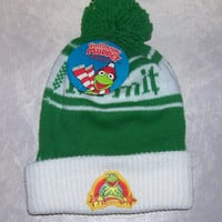 Vintage 1981 Muppets Kermit the Frog Beanie Deadstock NOS