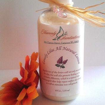 Lilac Lotion All Natural Bath and Body Skin Care Scented Lotion Fragrance Oil Pure Sensitive Skin