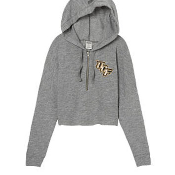 University Of Central Florida Varsity Cropped Half-Zip Hoodie - PINK - Victoria's Secret