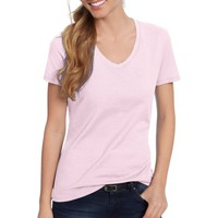 Hanes Women's Lightweight Short Sleeve V-neck T Shirt - Walmart.com