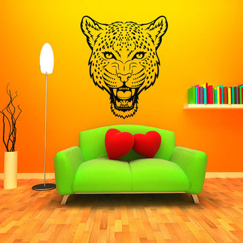 Wall Decal Vinyl Sticker Decals Art Home Decor Design Murals Leopard Print Wild Cat Wildcat Animals Panther Tiger Bedroom Bathroom Dorm AN13