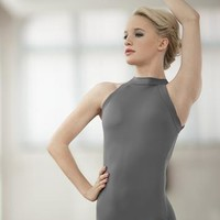 High-Neck Open Back Halter Leotard | Balera™