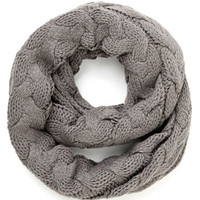 ModCloth Boho Go Outside and Plait Circle Scarf in Grey