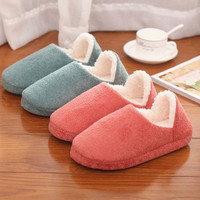 Men Women Soft Warm Indoor Slippers Cotton Sandal House Home Anti-slip Shoes = 1705243908