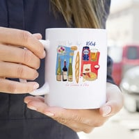 Paris Food Map Mug