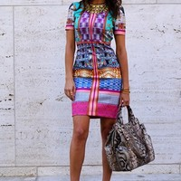 Graphic Print Street Style Look | Nordstrom