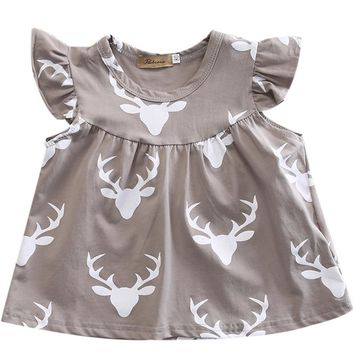 Baby Girls cotton deer Printed Tunic