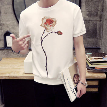 Mens Flower Graphic Tee