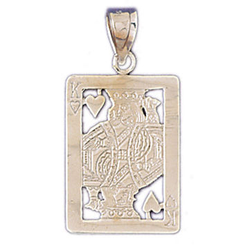 14K WHITE GOLD PLAYING CARD CHARM #11219