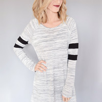 Striped Sleeve Knit Tunic