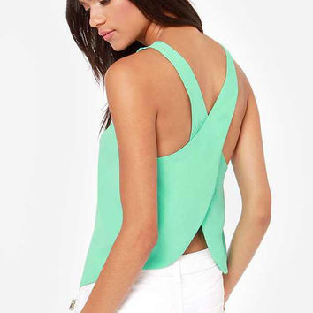Mint Candy Color Top