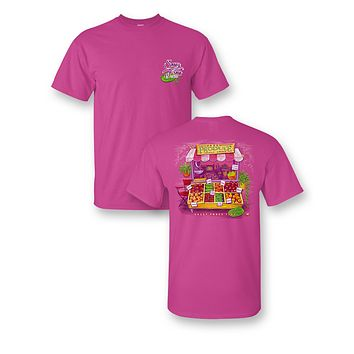 Sassy Frass Fresh Produce Stand Locally Grown Comfort Colors Bright Girlie T Shirt