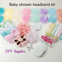 Baby shower headband kit - baby shower headband station kit - hair bow kit - headband kit - headband party kit - diy headband kit