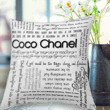 """Coco Chanel Quotes pillow case # 18"""" x 18"""" , 16"""" x 24"""" , 20"""" x 30"""""""