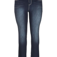 Plus Size - Denim Flex ™ Dark Wash Jegging - Dark Sandblast