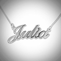 Name Necklace - Script Font - 8+ Characters - Large Version