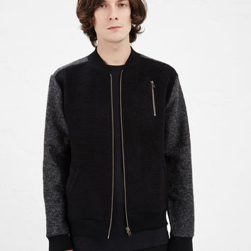 Totokaelo - Robert Geller Black Knit Bomber Jacket - $459.00